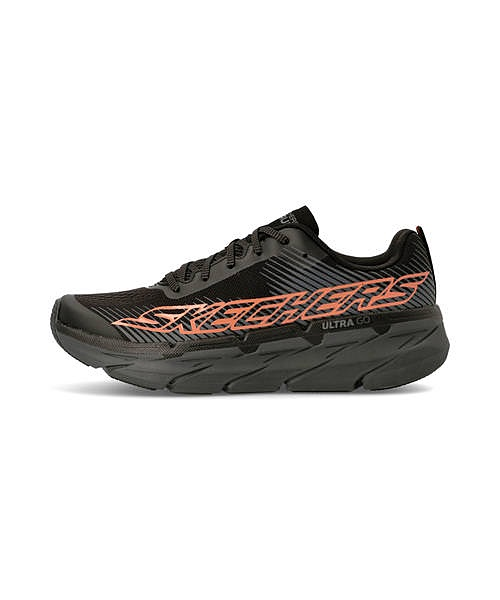 スケッチャーズ SKECHERS マックスクッショニングプレミア MAX CUSHIONING PREMIER ブラック/オレンジ ウォーキングシューズ スニーカー 軽量 クッション性 カジュアル デイリー スポーツ ウォーキング 54451