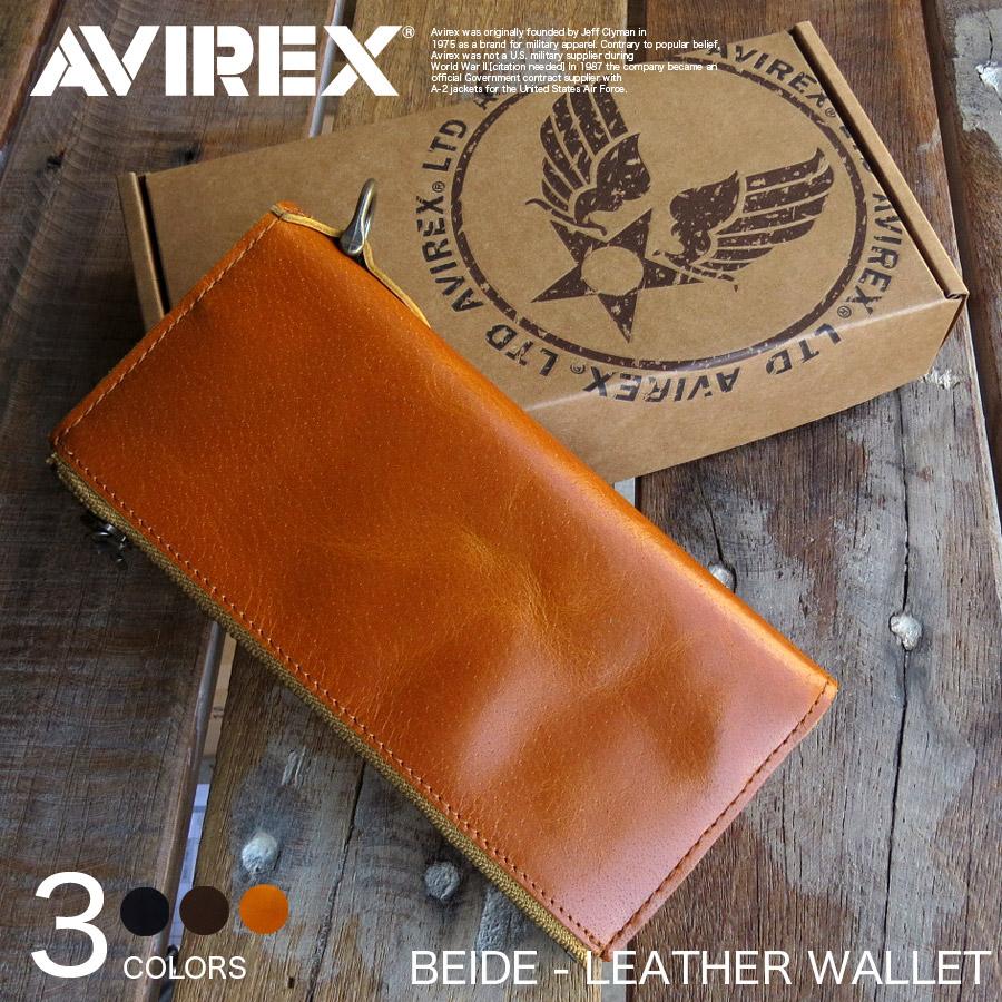 大人気AVIREXより使えば使うほど味がでる タフな本革財布が登場 AVIREX 新作続 BEIDE 本革 ウォレット 長財布 Y-LO P10 二つ折財布 AVX1805 蔵