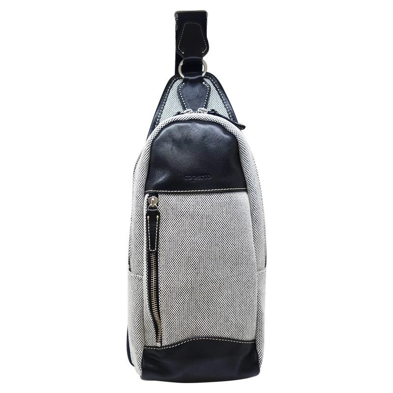 coperto コペルト ボディバッグ 鞄 キャンバス生地 国産牛革使用 CPX111【Y_KO】【LO】【P10】 【ren】