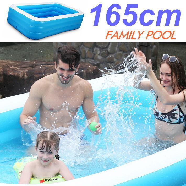 賜物 ギフト 夏の思い出作りにぴったりなファミリープール ビニールプール 家庭用プール 大型 折り畳み式 165cm×125cm×50cm 7988336 REV 水遊び 屋外プール 送料無料