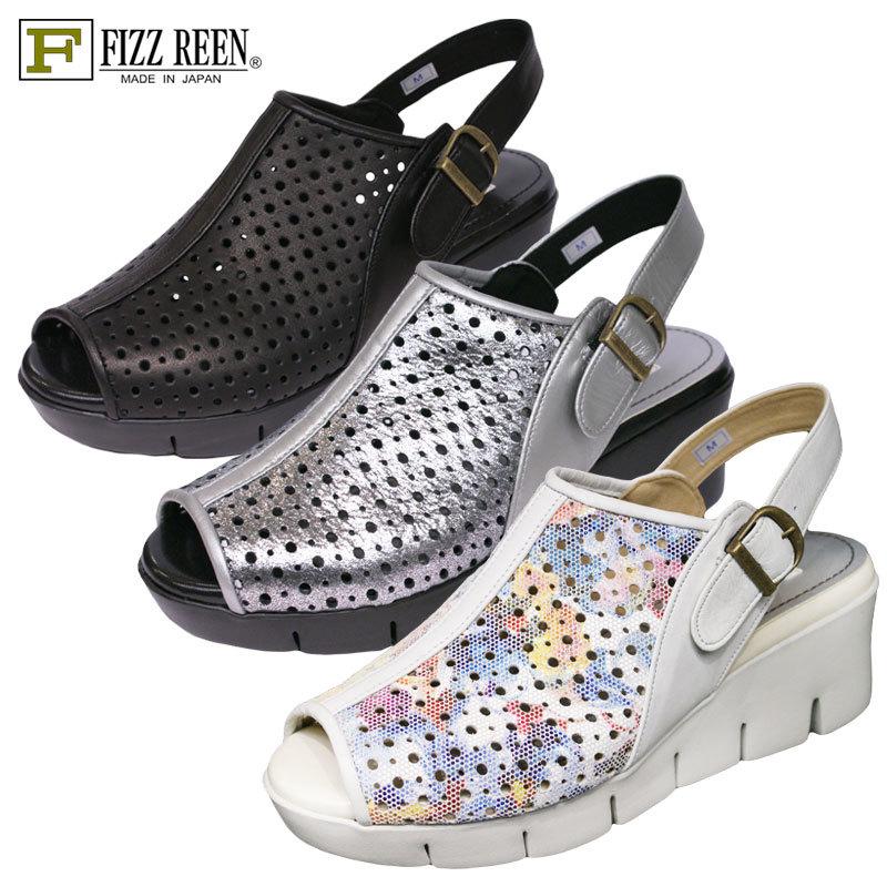 【送料無料】《FIZZ REEN フィズリーン》 80013『FIZZ REEN 魅せるデザインとはきごこちの良さで信頼の日本製レディースシューズ・ブランド』幅ゆったりEEEEのおしゃれサンダル