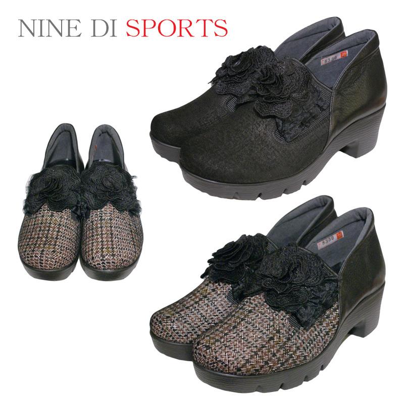 【24.0cm】【送料無料!】《NINE DI SPORTS》8330 合わせやすさと履き心地の良さがコンセプトの日本製レディースシューズ・ブランドナチュラルで心地よい生活を楽しめるかわいいお靴です
