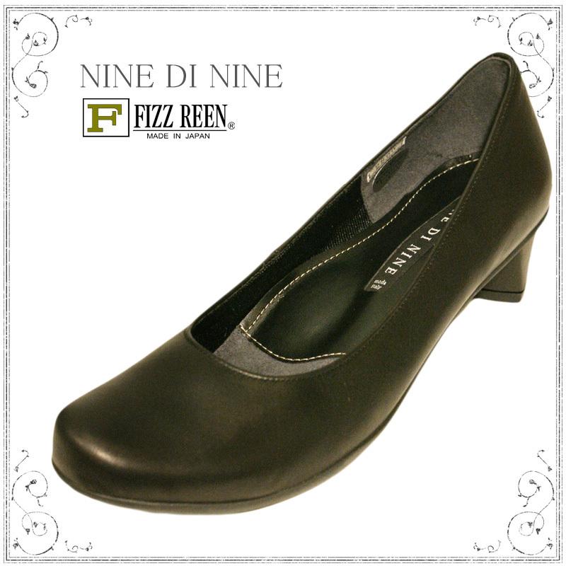 【送料無料】《NINE DI NINE & FIZZ REEN》2800 ブラック合わせやすさと履き心地の良さがコンセプトの日本製レディースシューズ・ブランドゆったり幅のEEEちょっとおでかけ・フォーマルにも~