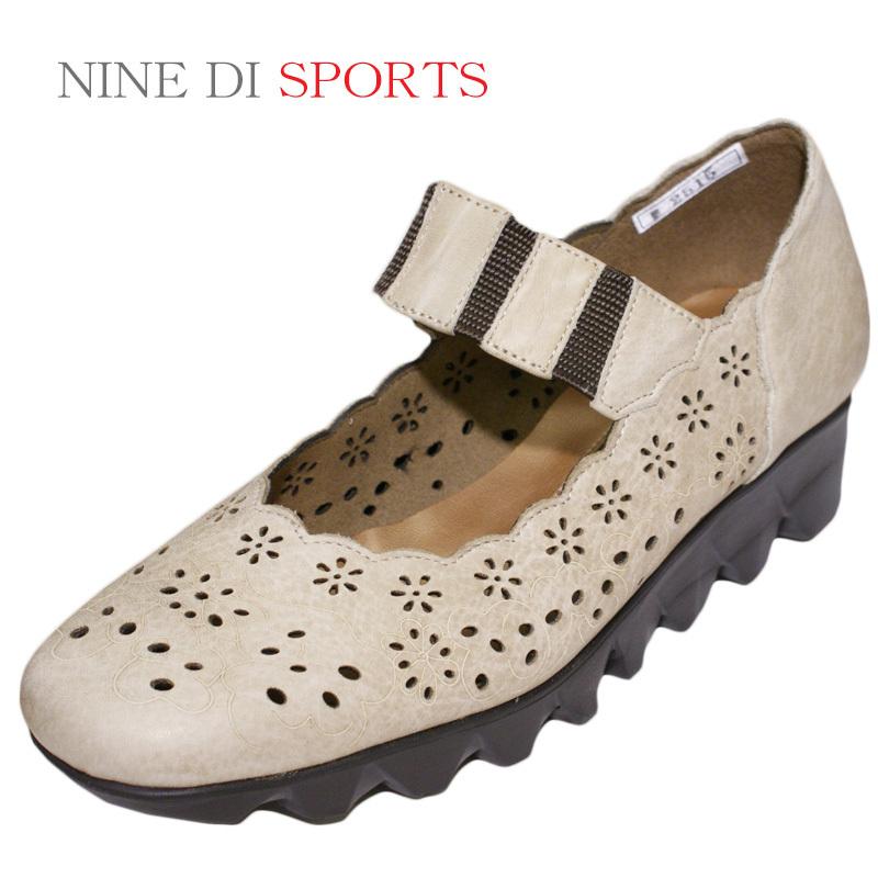 【22cm】【22.5cm】【送料無料!】《NINE DI SPORTS ナインディスポーツ》2515合わせやすさと履き心地の良さがコンセプトの日本製レディースシューズ・ブランド軽くてクッションの良いパイロンソールのやや厚バレエシューズです
