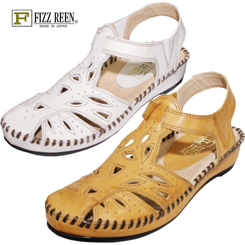【23.0cm】【23.5cm】【24.0cm】【送料無料!】FIZZ REEN フィズリーン 711魅せるデザインと歩きやすく痛くならない信頼の日本製レディースシューズ・ブランドおとなのフォークロアサンダルです
