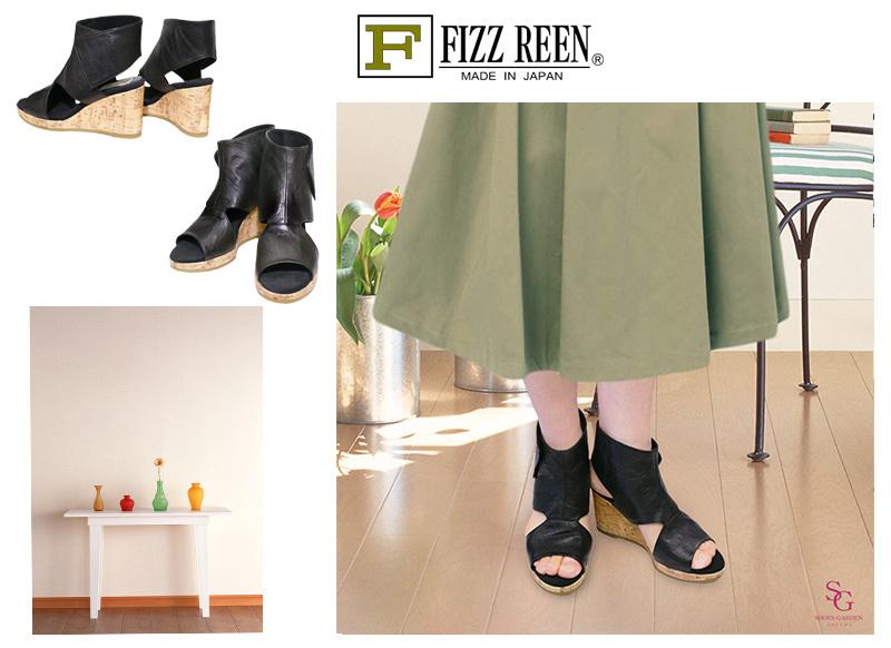 《FIZZ REEN フィズリーン》 6800『FIZZ REEN 魅せるデザインとはきごこちの良さで信頼の日本製レディースシューズ・ブランド』おしゃれなサマーブーツです