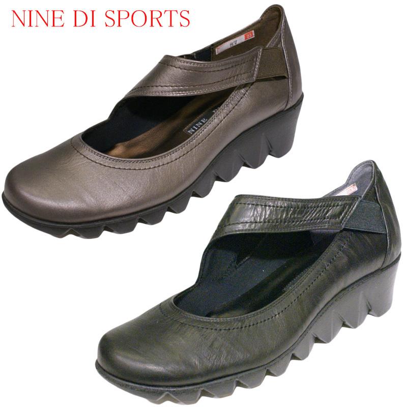 【23.0m】【24.0cm】【送料無料】《NINE DI SPORTS ナインディスポーツ》87合わせやすさと履き心地の良さがコンセプトの日本製レディースシューズ・ブランド軽くてクッションの良いやや厚ソールのカジュアルです