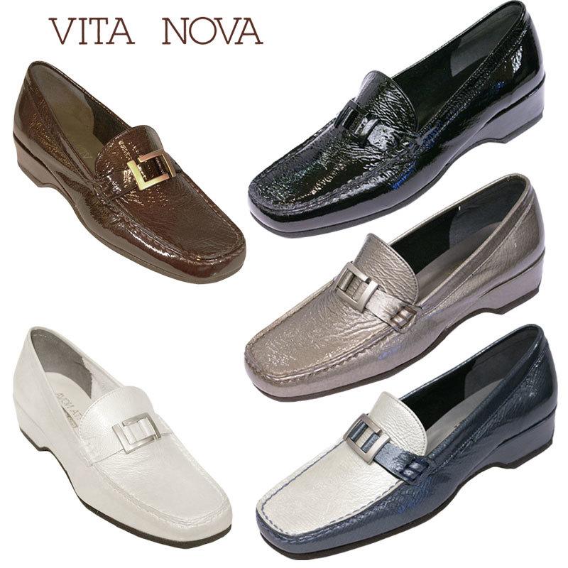 【送料無料】《VITA NOVA ヴィタノーバ》 9924 新しいライフスタイルを提案するレディースシューズ・ブランドゆったり幅のEEE 定番の人気ローファーシューズです
