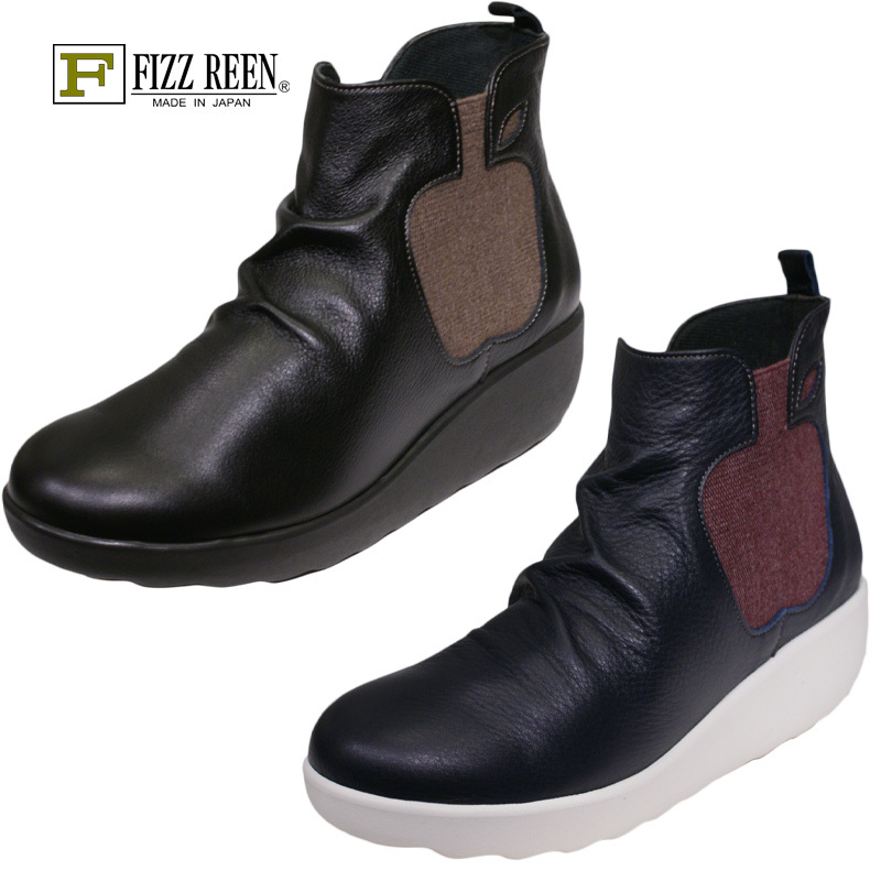 【黒23.5cm】【送料無料!】《FIZZ REEN フィズリーン》 1711 FIZZ REENらしい遊び心のあるブーツです