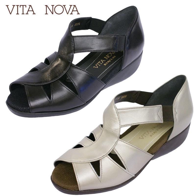 【送料無料】《VITA NOVA ヴィタノーバ》 8826 新しいライフスタイルを提案するレディースシューズ・ブランドゆったり幅で微調整もOK!EEEのリゾートサンダルです♪