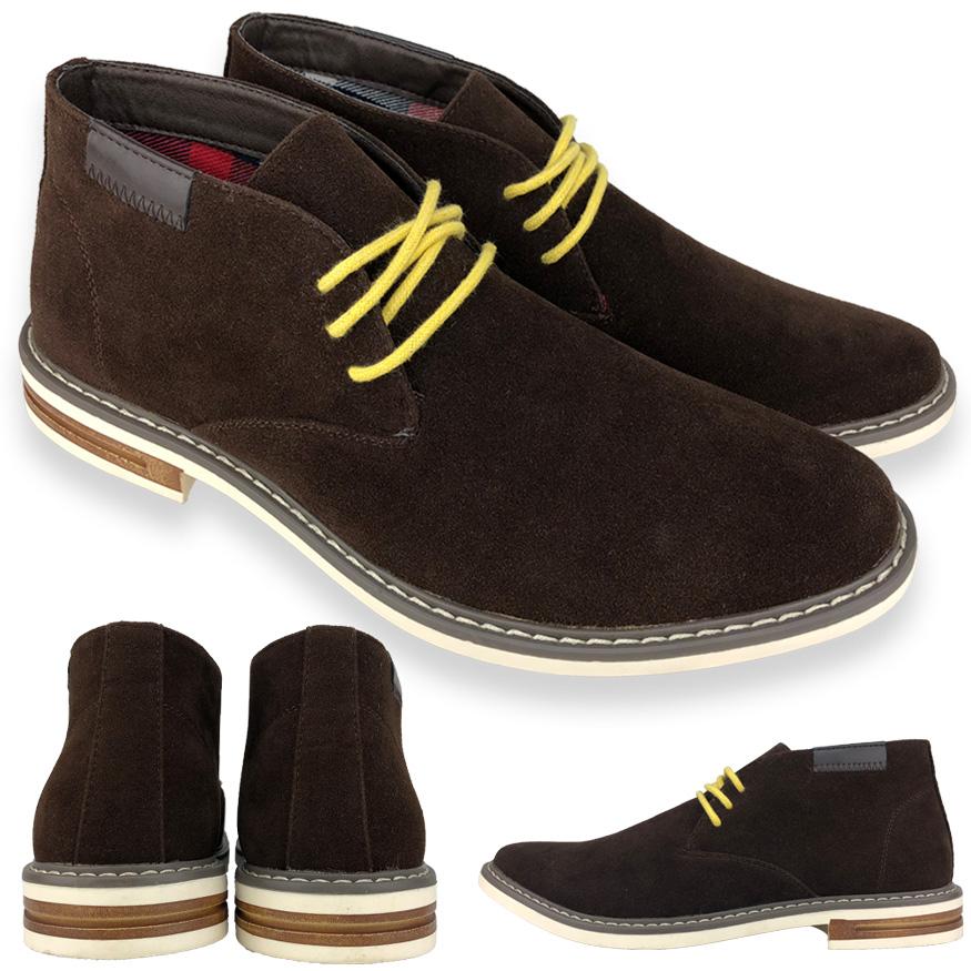 靴 メンズ靴 ブーツ チャッカ チャッカーブーツ 替えヒモ付 スエード デザイン チャッカー ブーツ メンズ 男性用 男 シューズグラインド 靴 歩きやすい くつ 定番 シンプル ダークブラウン ダーブラ 茶