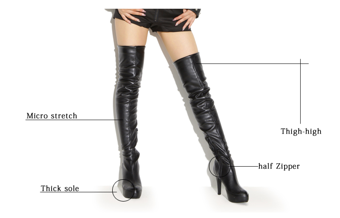 shoesholic | Rakuten Global Market: Super stretch thigh high boots ...