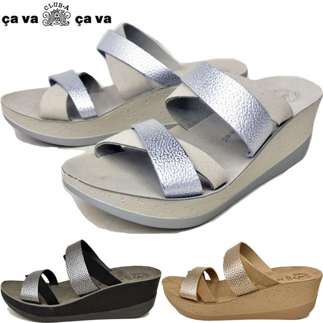 サバサバ サヴァサヴァ cavacava cava cava 厚底サンダル 本革 レザー レディース 全3色 S-LL 3260009