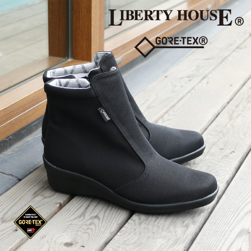 【リバティーハウス】LIBERTY HOUSEレディース透湿防水ブーツ LH-228 ゴアテックス GORE-TEX ショート ウェッジソール ファスナー 滑りにくい 送料無料 交換可能