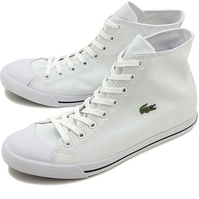243334693cea LACOSTE Lacoste sneakers men L27 MID LCR2 higher frequency elimination shoes  WHT (MAE002-21G SS15) shoetime