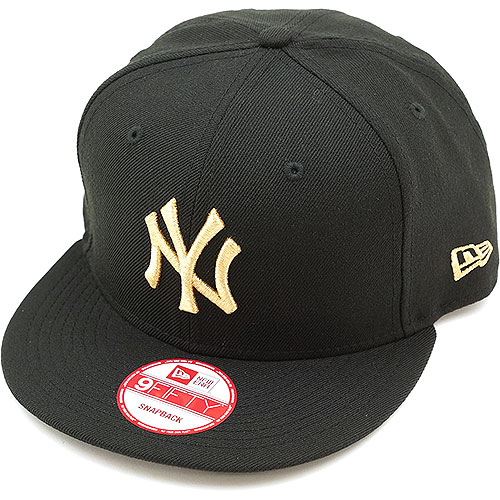 NEWERA new era Cap 9 FIFTY nine fifty New York-Yankees Black   metallic  gold (N0015571 11120879) (NEW ERA) 1294a1e6bc2
