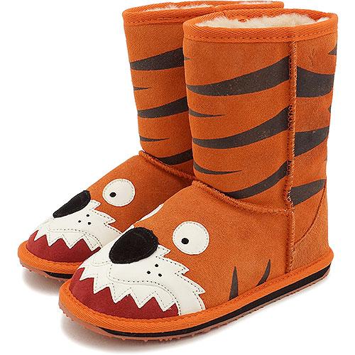 【13~20cm】emu エミュー キッズ ムートンブーツ LITTLE CREATURE リトル クリーチャーズ 靴 (スウェード/メリノウール) LC Tiger【e】【ts】