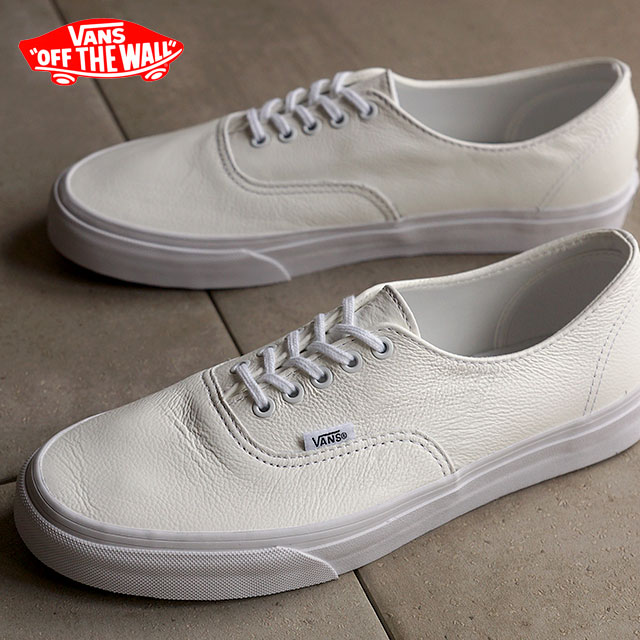 VANS vans sneakers mens Womens CLASSICS AUTHENTIC DECON classics authentic Deacon PREMIUM LEATHER TRUE WHITE VN018CEWB FW15