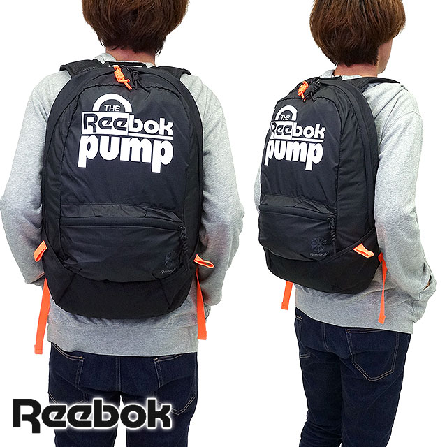 Reebok Reebok bag CL PUMP SMALL BACKPACK classic pump Backpack Rucksack  BLACK (AB3876 FW15)