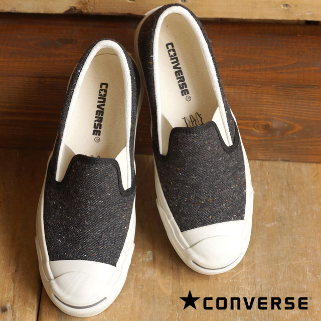 23fa732e42f488 CONVERSE Converse slip-ons sneakers JACK PURCELL NEPWOOL SLIP-ON Jack  Pursel NEP wool slip-on black (32262431 FW15) shoetime
