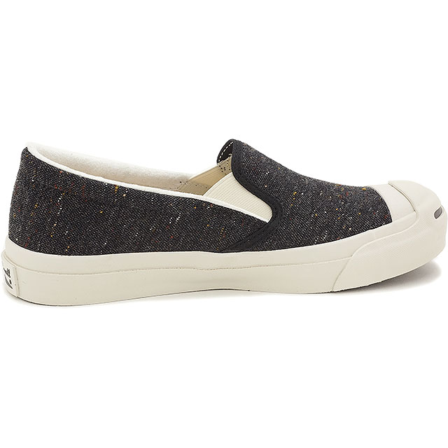 CONVERSE converse slip-on sneakers JACK PURCELL NEPWOOL SLIP-ON converse Jack Purcell NEP wool slip-on black (32262431 FW15)