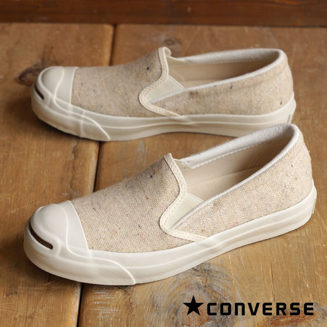 fc6f75a14714 CONVERSE Converse slip-ons sneakers JACK PURCELL NEPWOOL SLIP-ON Jack  Pursel NEP wool slip-on white (32262430 FW15) shoetime