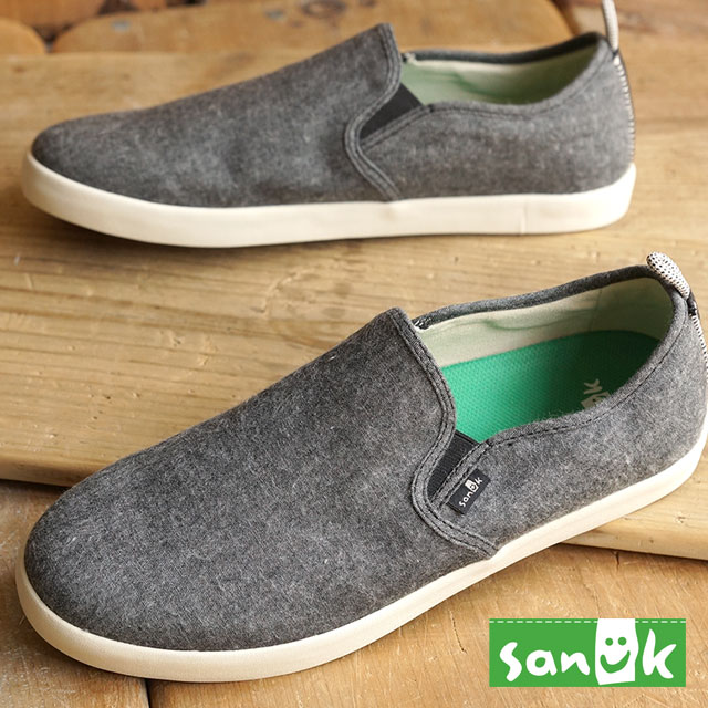 Sanuk Sanuk men's sneakers slip-on Range TX range TX BLACK CHAMBRAY  (SMF10971-BCMB FW15)