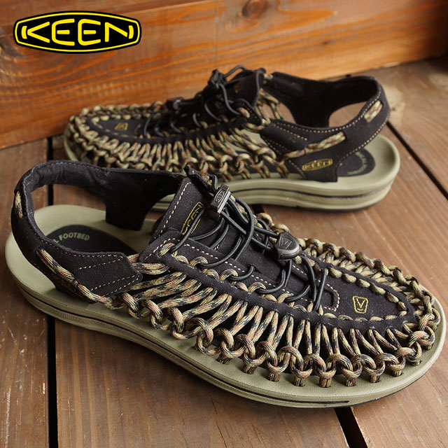 KEEN keen mens Sandals shoes water UNEEK MNS unique mens BlackBurnt Olive 1013890 FW15