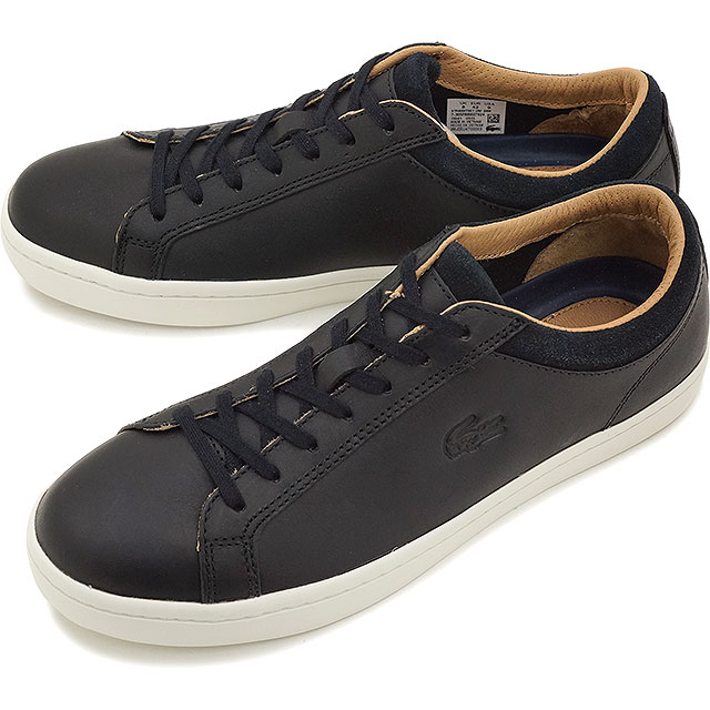 08284d2b1 LACOSTE Lacoste mens sneakers STRAIGHTSET CRF 2 BLACK (MSG027-024 FW15Q3)