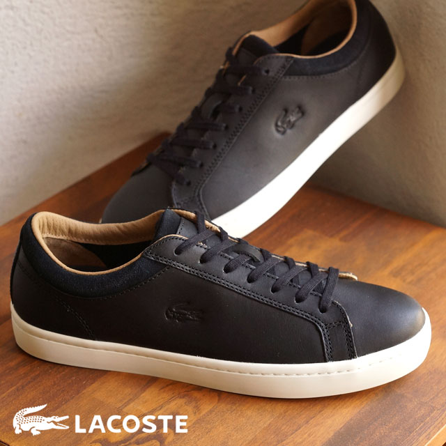 dc87af1c05f7ac LACOSTE Lacoste mens sneakers STRAIGHTSET CRF 2 BLACK (MSG027-024 FW15Q3)