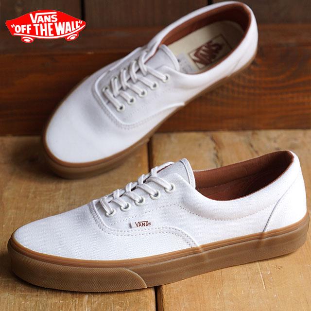 VANS vans sneakers men gap Dis CLASSICS ERA classical music gills (GUMSOLE) TRUE  WHITE MEDIUM GUM (VN-018FGID FW15) shoetime c7494592a