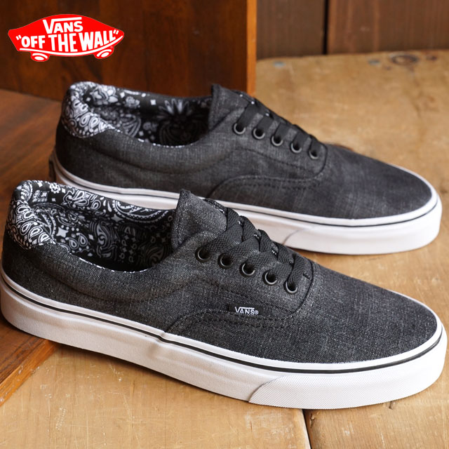 e4ee537364 VANS vans sneakers men gap Dis CLASSICS ERA 59 classical music gills 59  (ACID DENIM) BLACK BANDANA (VN-0ZMSGEK FW15) shoetime