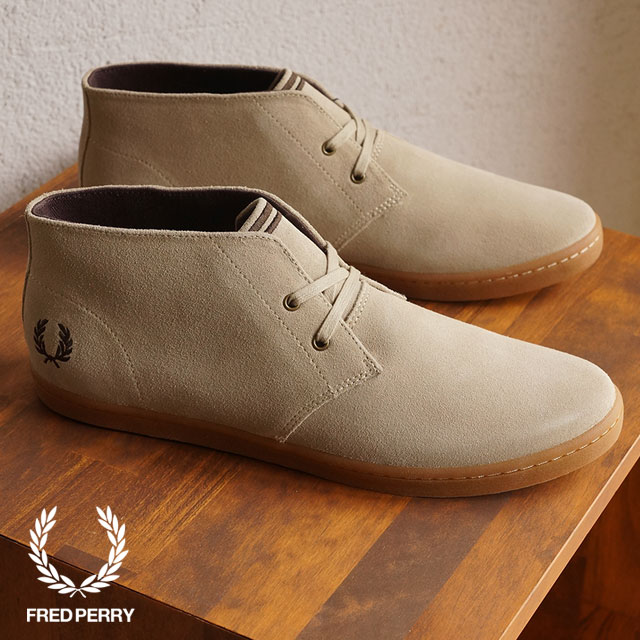 plus de photos fa6b2 802b5 FRED PERRY Fred Perry sneakers men BYRON MID SUEDE Byron mid suede  SAND/DARK CHOCOLATE (B7400-212 FW15) shoetime