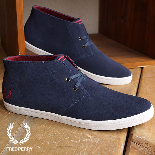 magasin d'usine f06c3 71e44 FRED PERRY Fred Perry sneakers men BYRON MID SUEDE Byron mid suede CARBON  BLUE/MAROON (B7400-266 FW15) shoetime