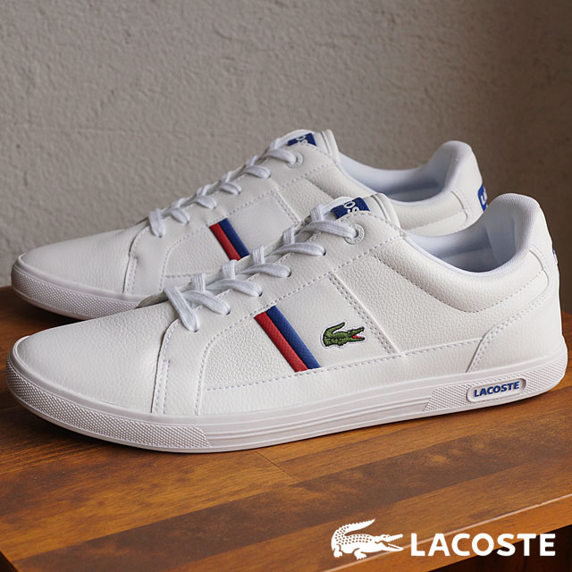 sklep dyskontowy najlepsza wyprzedaż przedstawianie LACOSTE Lacoste men sneakers EUROPA TCL WHT/WHT (MAG008-21G FW15Q3) shoetime