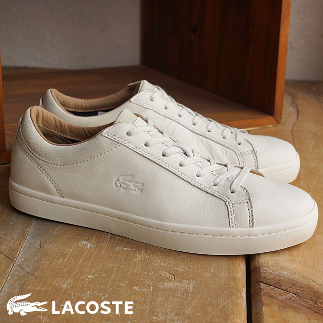201b4416fcd11 LACOSTE Lacoste mens sneakers STRAIGHTSET CRF 2 OFFWHITE (MSG028-098 FW15Q3)