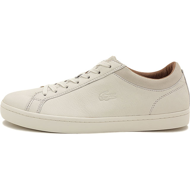 117e34d45 LACOSTE Lacoste mens sneakers STRAIGHTSET CRF 2 OFFWHITE (MSG028-098 FW15Q3)