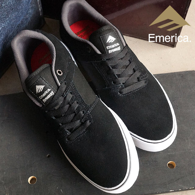 c4baee51f66b EMERICA Eymet Rika skating shoes REYNOLDS LOW VULC レイノルズローヴァルカ BLACK WHITE SILVER  (FW15) shoetime