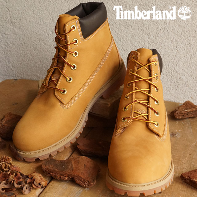 6896e2a5968 Timberland Timberland boots Lady's-adaptive youth standard 6 inch Premium  Waterproof Boot 6 inches premium waterproof boots Wheat Nubuck shoes (12909)