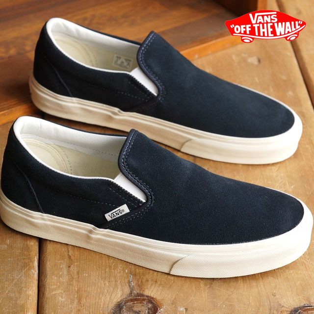 e937cd35664124 VANS vans sneakers men gap Dis slip-ons CLASSICS CLASSIC SLIP-ON classical  music classical music slip-on (VINTAGE) BLUE GRAPHITE BLANC (VN-018DGXQ  FW15) ...