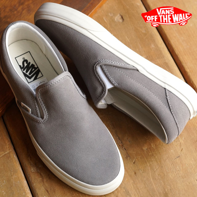 9a8a80ce6453 VANS vans sneakers men gap Dis slip-ons CLASSICS CLASSIC SLIP-ON classical  music classical music slip-on (VINTAGE) FROST GRAY BLANC (VN-018DGXU FW15)  ...