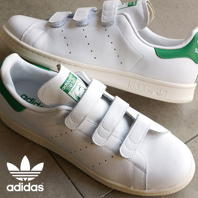 finest selection b82e6 16725 Adidas originals Stan Smith comfort Velcro men gap Dis adidas Originals  STAN SMITH CF TF white  green AQ5357 FW15 shoetime