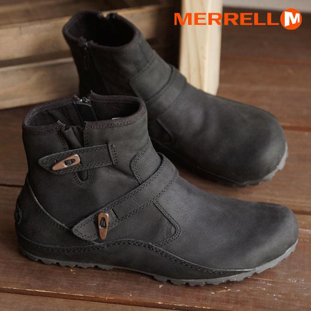 MERRELL Merrell Womens ladies short boots WMNS HEVEN DUO WATERPROOF boots  heaven duo waterproof BLK (69180) 1f56433006f3
