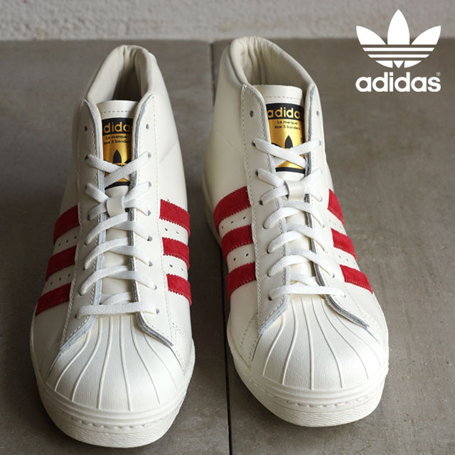 adidas adidas originals sneakers PRO MODEL VINTAGE DLX model vintage Deluxe off white Scarlet off white (B35248 FW15)