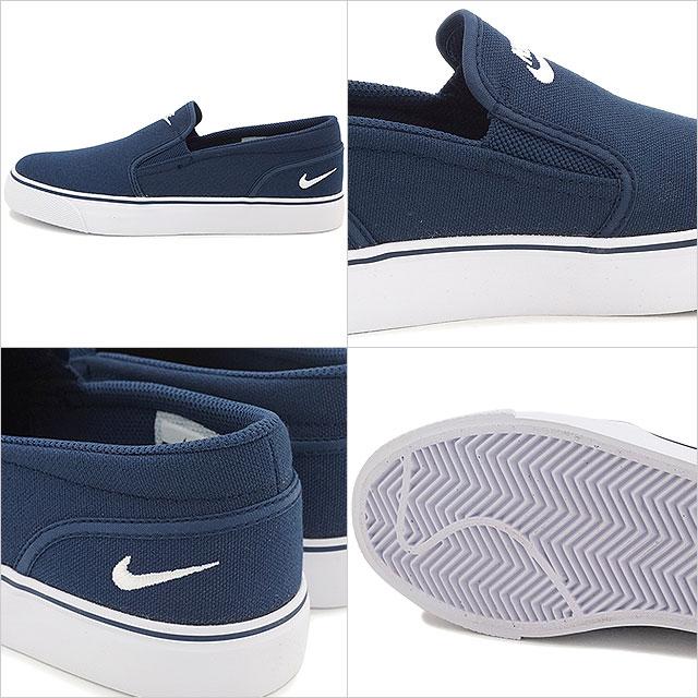 a4f93778185e NIKE Nike women gap Dis sneakers slip-ons TOKI SLIP TXT Toki slip TXT  midnight navy   white (724
