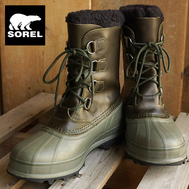 8ba910b1d7e25 SOREL Sorrel snow boot men CARIBOU WL Caribou wool SURPLUS GREEN/WHITE  (NM1873- ...