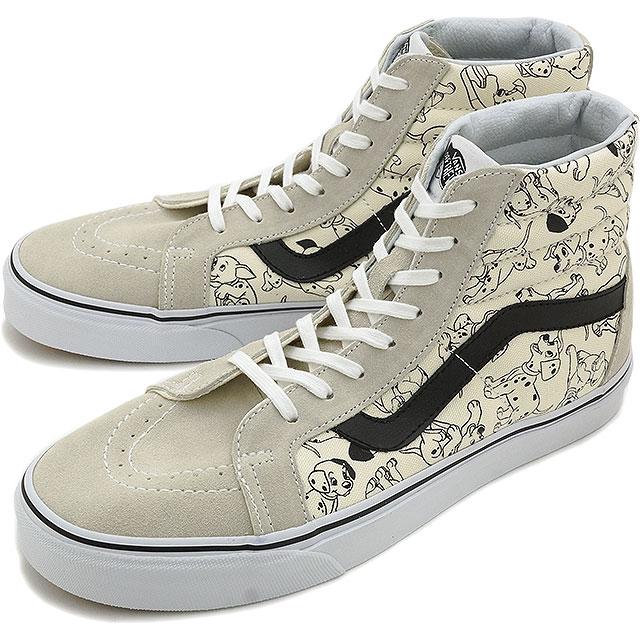 VANS vans sneakers mens Womens REISSUE DISNEY SK8-HI Disney skating high  richoux (DISNEY) DALMATIANS/WHITE (VN-03CAI0JFW15)
