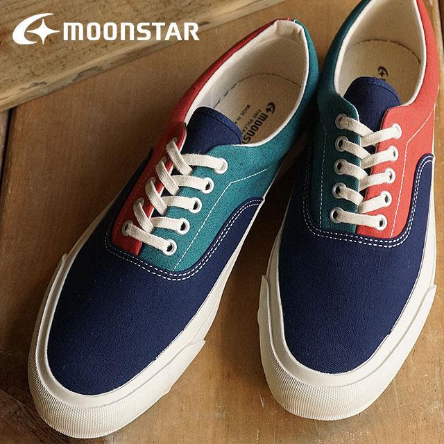 【即納】Moonstar ムーンスター FINE VULCANIZED ファイン ヴァルカナイズド メンズ レディース スニーカー DECK SPORT K デッキスポーツ K MULTI (54320181) 日本製 靴【コンビニ受取対応商品】