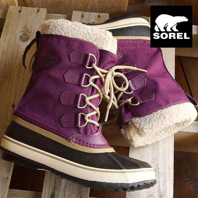 9857a6814e7 SOREL Sorrel snow boot Lady's WINTER CARNIVAL winter carnival PURPLE  DAHLIA/BLACK (NL1495- ...