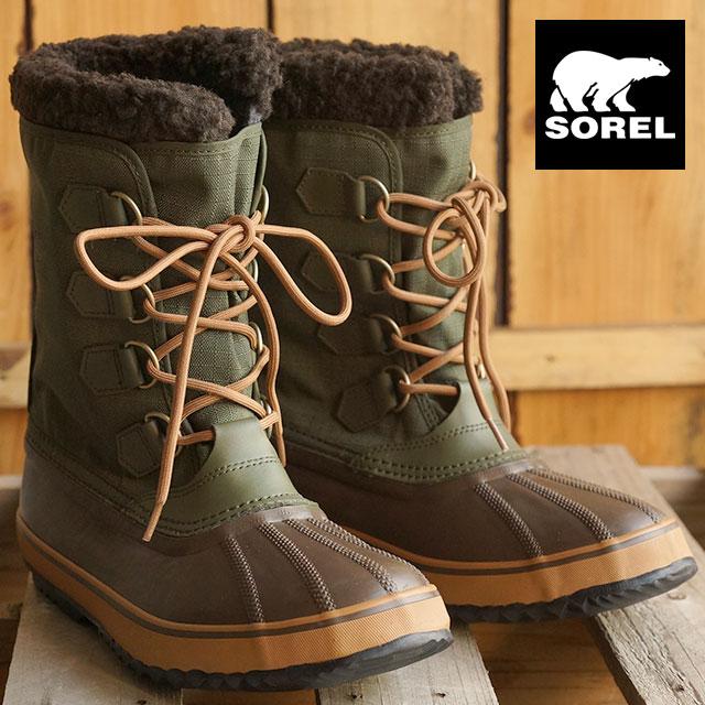 f8ee3b5637 SOREL Sorel boots men's 1964 PAC NYLON 1964 Pack nylon SURPLUS GREEN/ELK  (NM1440-347 FW15)